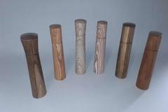 Pfeffermühlen aus verschiedenen Hölzern - Gerhard Winter