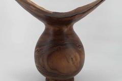 Vase aus einer Astgabelung Nussbaum -Gerhard-Winter