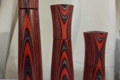 Gewürzmühlen aus Aktionwood ( gefärbtes Birkenfurnier) in verschiedenen Farben und Größen (2)