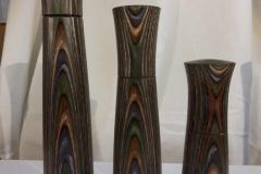 Gewürzmühlen aus Aktionwood ( gefärbtes Birkenfurnier) in verschiedenen Farben und Größen - Michael Walther