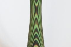 Grüne Vase aus Fichte - gebrannt gebürstet gebeizt - Helmut Geupel