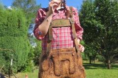 Holzlederhose - Sigi Bulikewitz