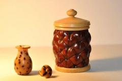 Naturdose mit kleiner Vase aus Samen - Manfred Faltin