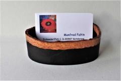 Ovale Dose für Visitenkarten - Manfred Faltin