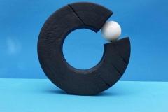Ring of fire, gebrannter Apfel+Marmorkugel 23 cm - Kurt Winkler