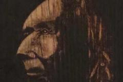 geflammtes Holzbild - Sigi Bulikewitz